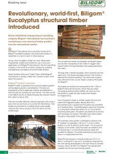 Biligom - Press Release Wood Southern Africa